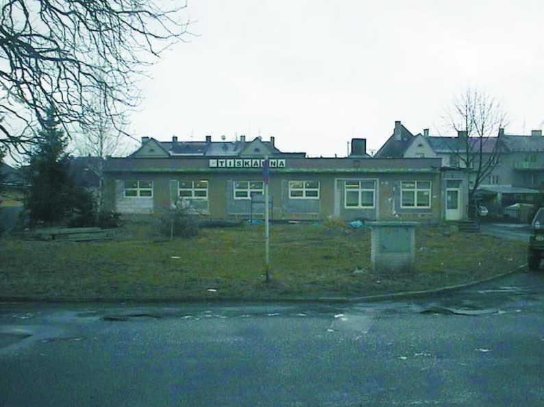 Rok 2002, budova tiskárny po částečné rekonstrukci