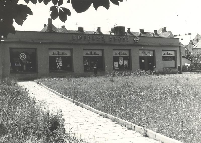 Foto z roku 2000, budova tiskárny před rekonstrukcí
